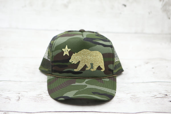 California Bear and Star Hat