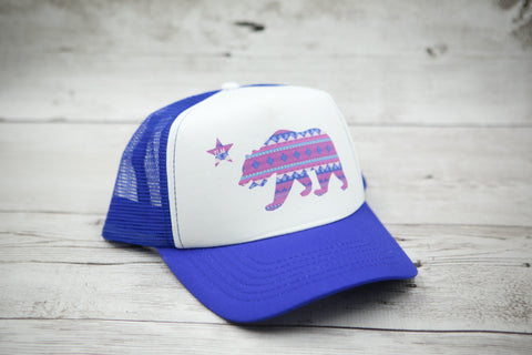 California Bear Tribal Hat
