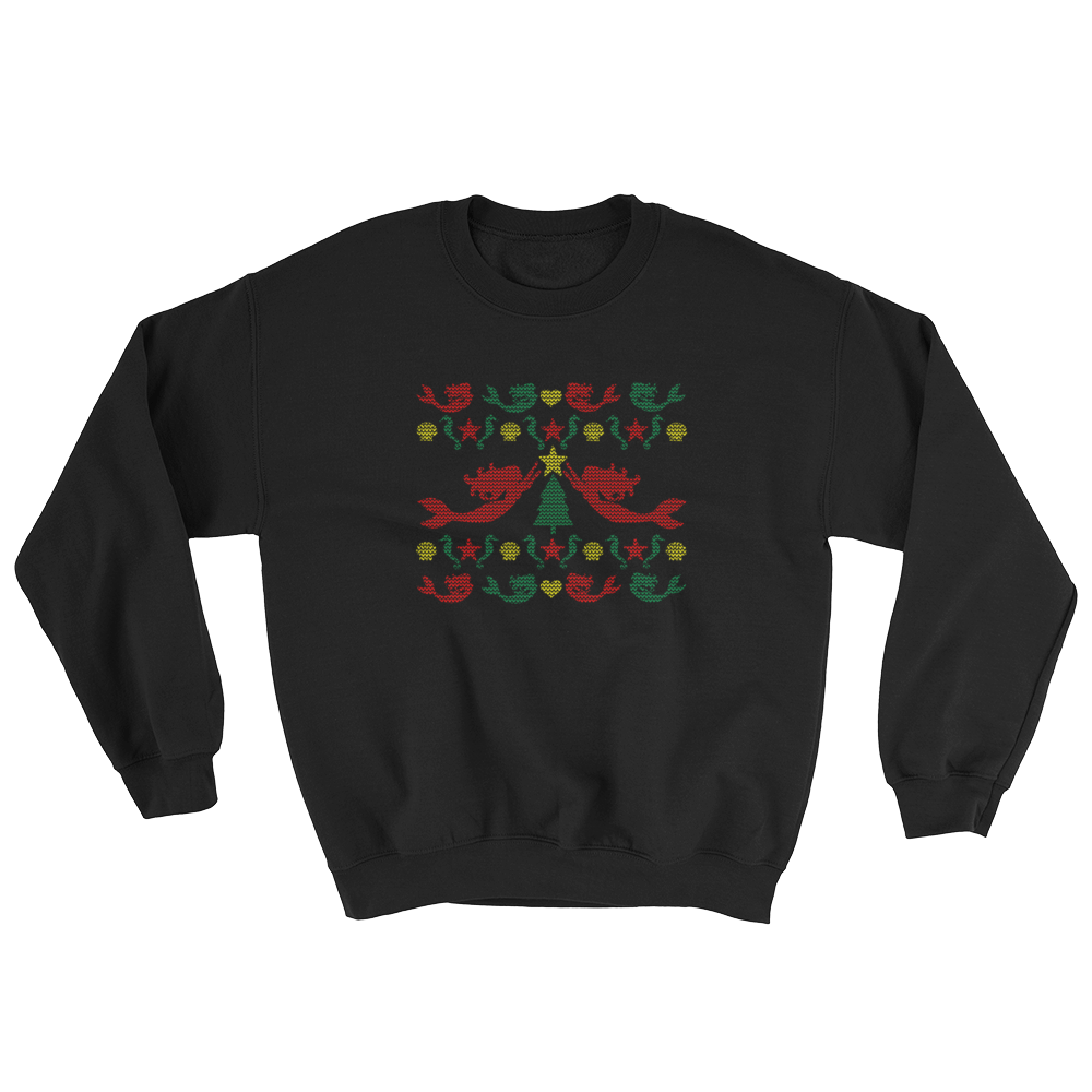 Mermaid Christmas Sweater Sweatshirt- Multi Image