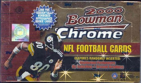 2000 Bowman Chrome Football Hobby Pack (Chase the Brady Rookie!!!)