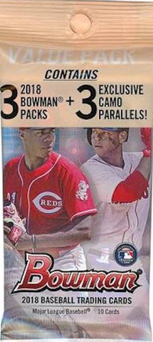 2018 Bowman Value Pack Retail