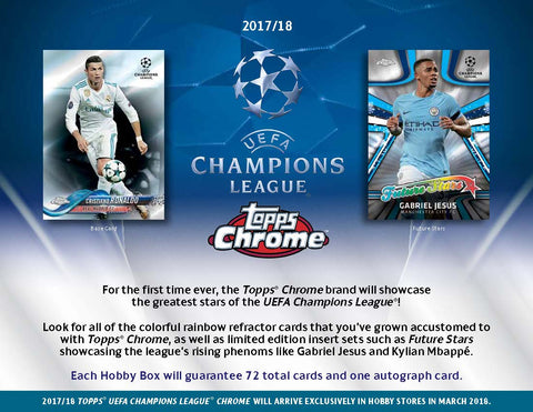 2017-18 Topps Champions League Chrome Soccer Hobby (Preorder) Release date 3/7