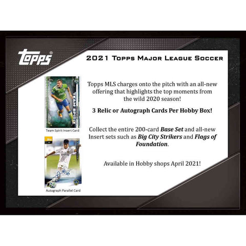 2021 Topps MLS Hobby Box (OPENED LIVE ON YOUTUBE)