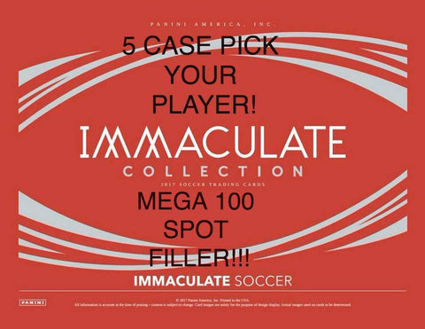 FILLER: Immaculate Soccer 5 Case Pick Your Player Break