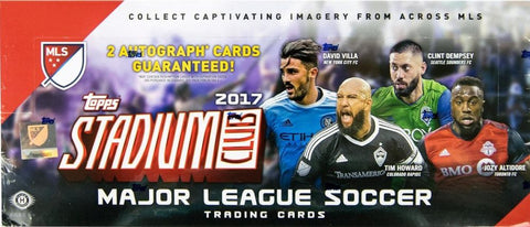 2017 Topps Stadium Club Soccer MLS Hobby Pack