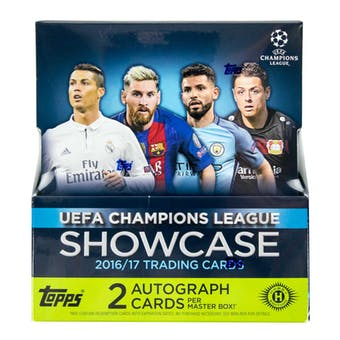 2016/17 TOPPS CHAMPIONS LEAGUE SHOWCASE SOCCER HOBBY BOX