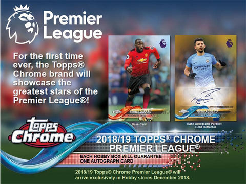 2018-19 Topps Chrome Premier League Hobby Pack
