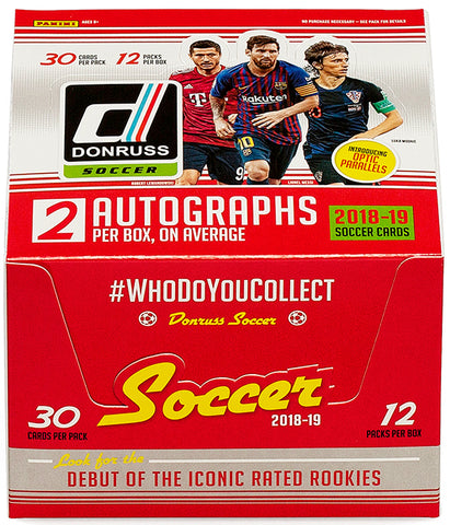 2018-19 Donruss Soccer Hobby Box