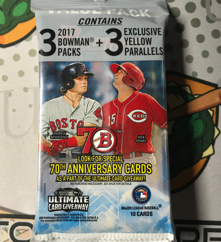 2017 Bowman Baseball Retail Value Rack Pack