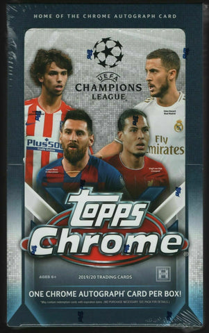 2019-20 Topps Chrome Champions League Hobby Pack (Fati & Haaland RC's)