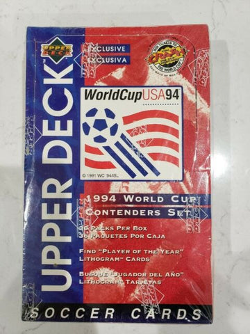 1994 WORLD CUP BOX UPPER DECK SOCCER USA PACK