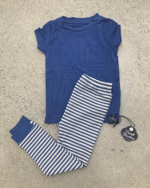 Sweet Bamboo Nautical Stripe Pajama Set