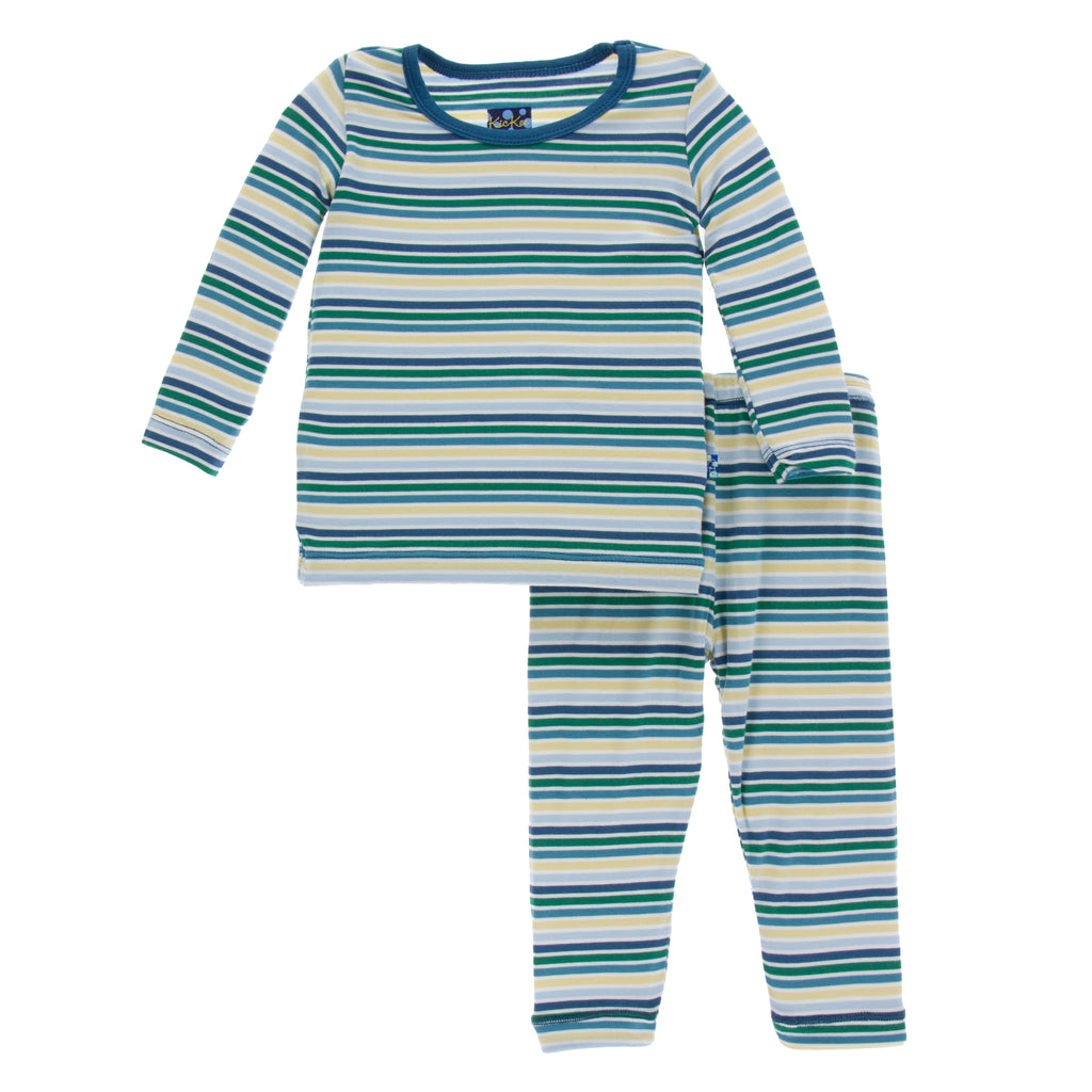 Long Sleeve Pajama Set * Boy Perth Stripe