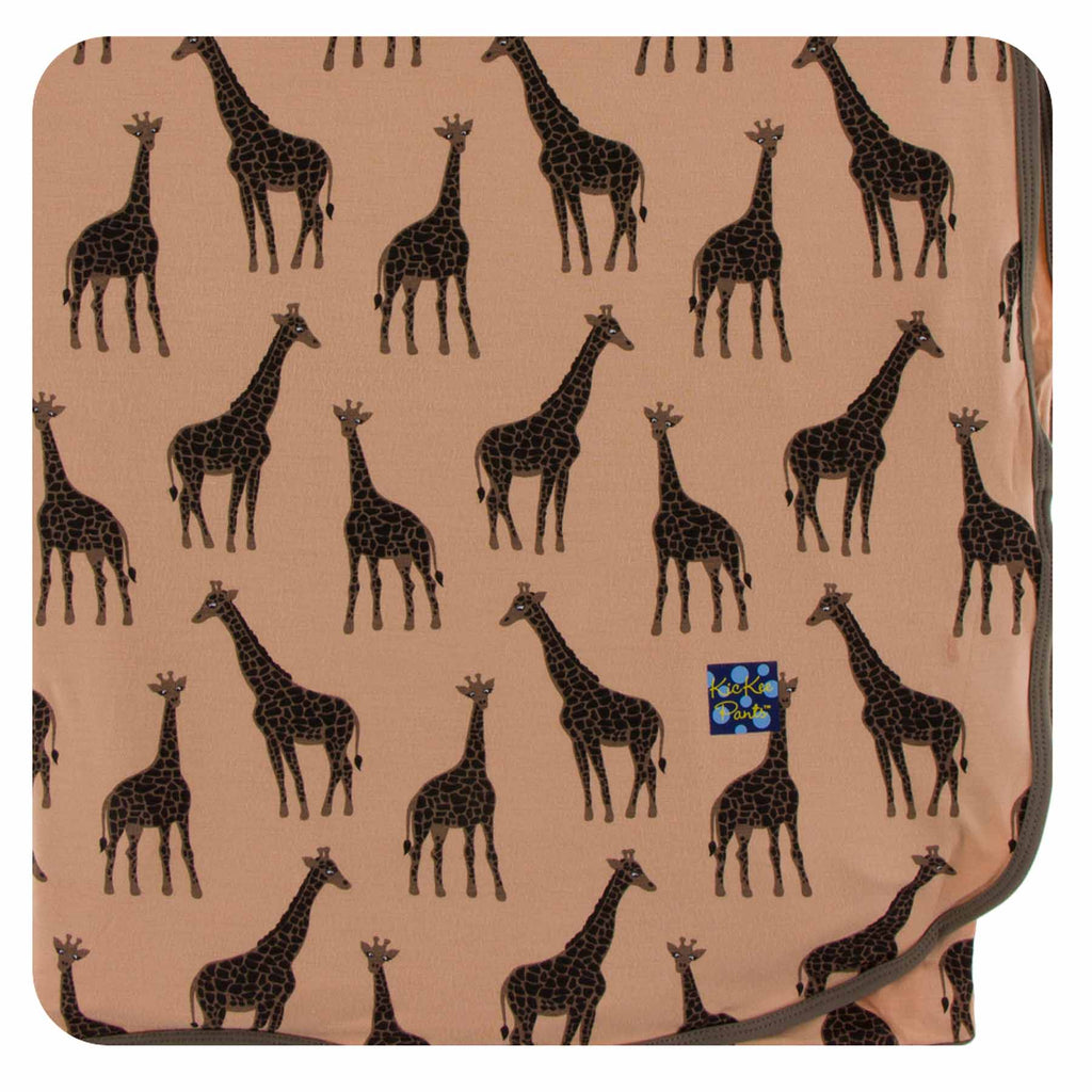 Kickee Pants Throw Blanket - Suede Giraffe