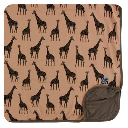 Kickee Pants Toddler Blanket - Suede Giraffe