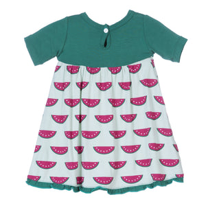 Load image into Gallery viewer, Kickee Pants Short Sleeve Swing Dress * Watermelon