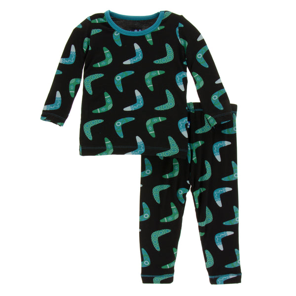Long Sleeve Pajama Set * Midnight Boomerang
