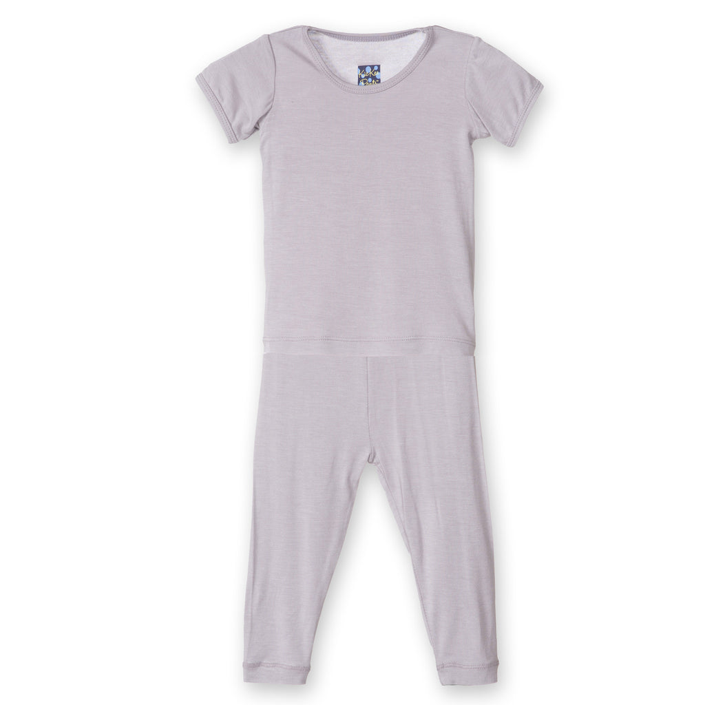 Solid Short Sleeve Pajama Feather