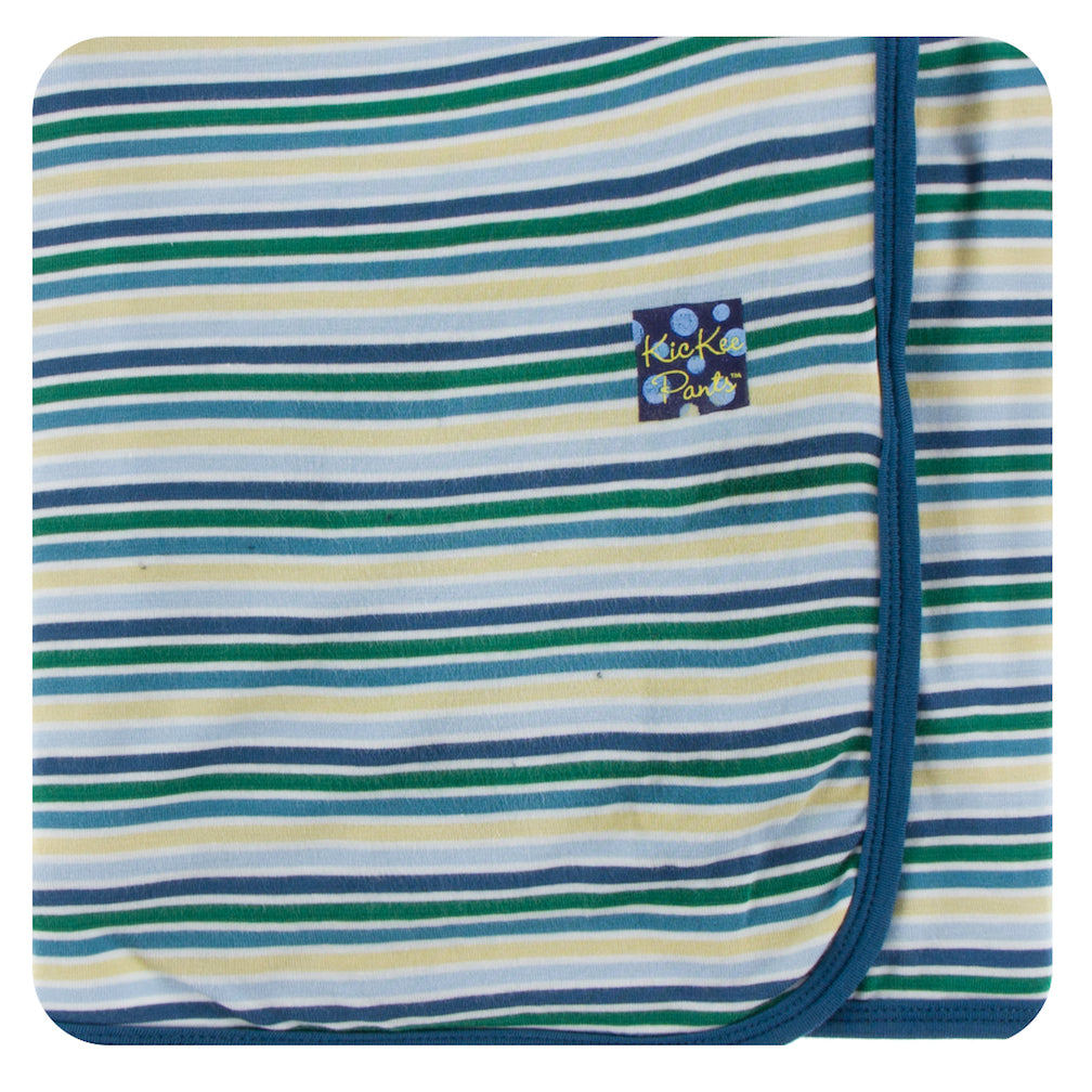 Kickee Pants Swaddle Blanket * Boy Perth Stripe