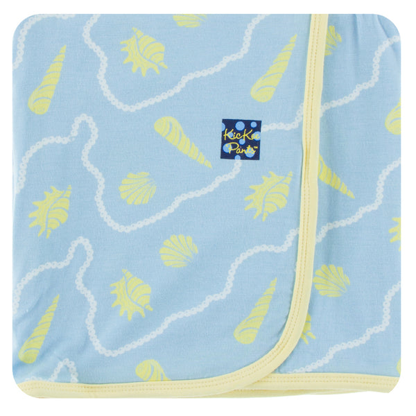 Kickee Pants Swaddle Blanket * Pond Shells