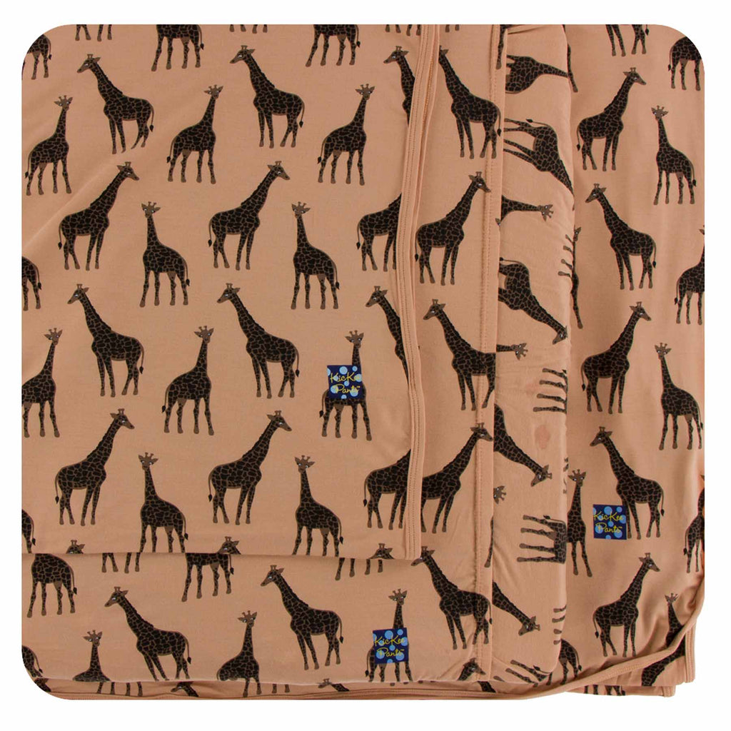 Kickee Pants Twin Sheet Set - Suede Giraffe