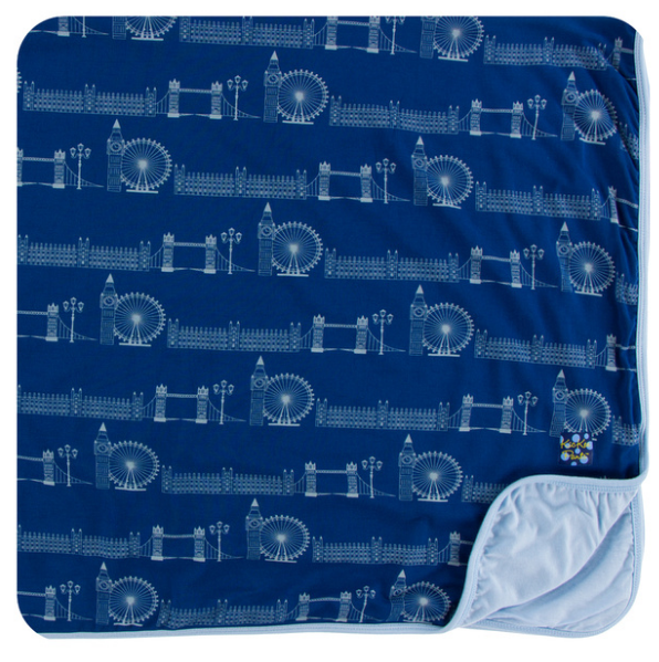 Kickee Pants Print Toddler Blanket - London Cityscape
