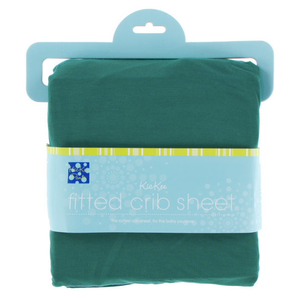Kickee Pants Solid Fitted Crib Sheet - Ivy