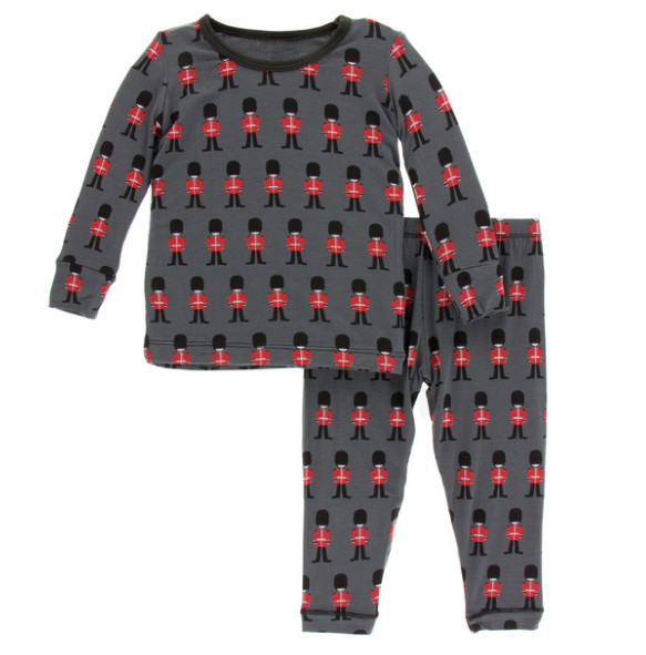 Kickee Pants Print Long Sleeve Pajama Set - Queen's Guard