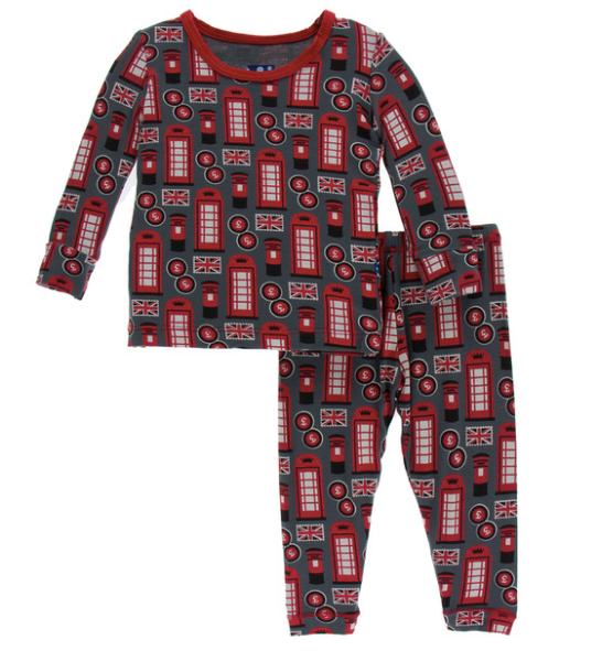 Kickee Pants Print Long Sleeve Pajama Set - Life About Town
