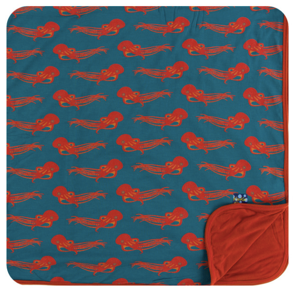 Kickee Pants Print Toddler Blanket - Oasis Octopus