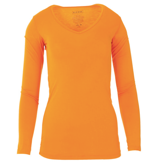 Kickee Pants Women's Solid Long Sleeve One Tee - Apricot
