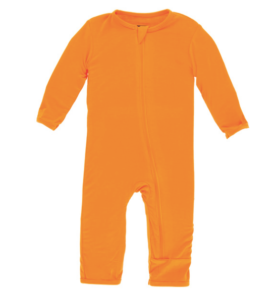Kickee Pants Solid Coverall with ZIPPER - Apricot