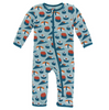Kickee Pants Print Coverall with ZIPPER - Jade Sushi