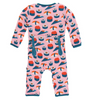 Kickee Pants Print Coverall with ZIPPER - Lotus Sushi