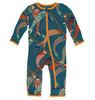 Kickee Pants Print Coverall with ZIPPER - Oasis Koinobori