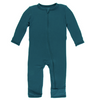 Kickee Pants Solid Coverall with ZIPPER - Oasis