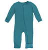 Kickee Pants Solid Coverall with ZIPPER - Seagrass