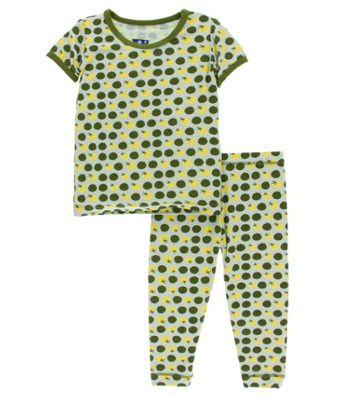 Kickee Pants Print Short Sleeve Pajama Set - Aloe Tomatoes