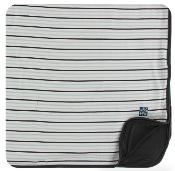 Kickee Pants Print Toddler Blanket - Tuscan Afternoon Stripe
