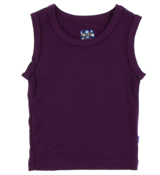 Kickee Pants Solid Sport Tank - Wine Grapes