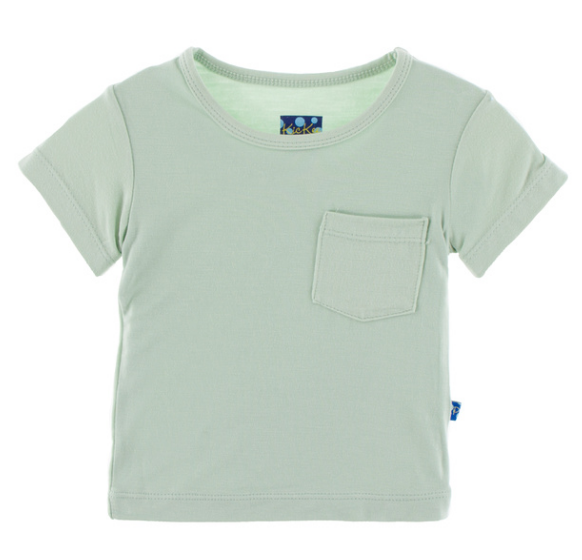 Kickee Pants Solid Short Sleeve Tee with Pocket - Aloe