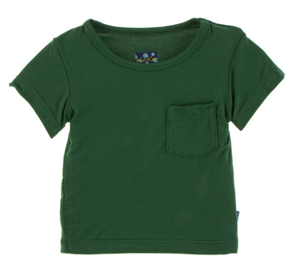 Kickee Pants Solid Short Sleeve Tee with Pocket - Topiary