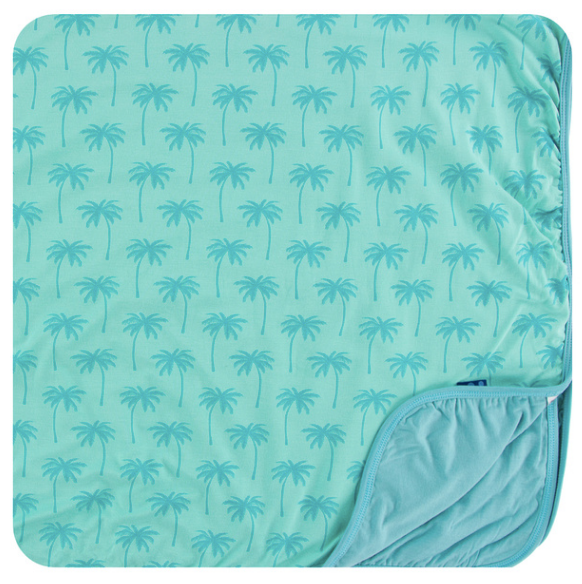 Kickee Pants Print Toddler Blanket - Glass Palm Trees