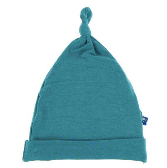 Kickee Pants Solid Knot Hat - Seagrass