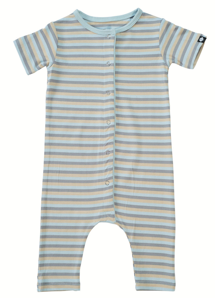 Sweet Bamboo Blue 3 Color Stripe Shortie