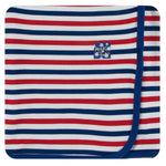Kickee Pants Swaddle Blanket - USA Stripe