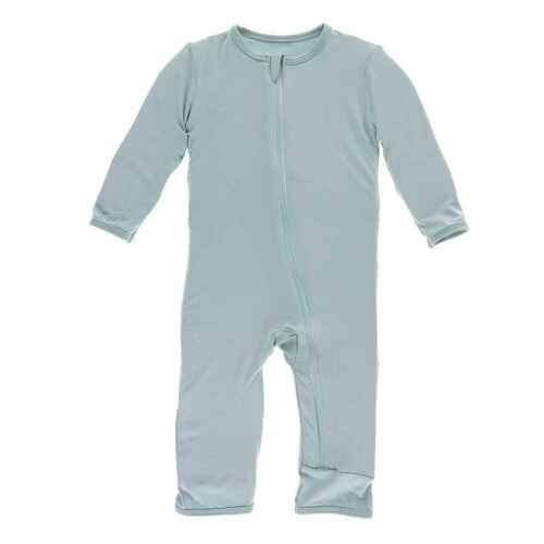Kickee Pants Solid Coverall ZIPPER - Jade