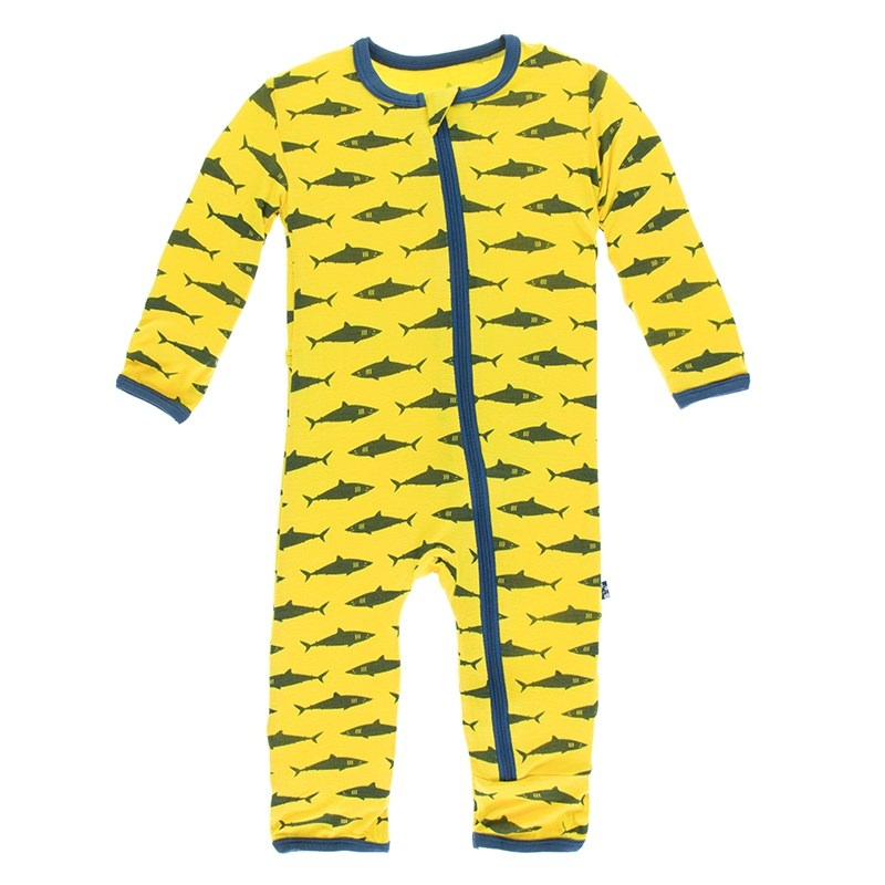 Lemon Shark Coverall with Zipper