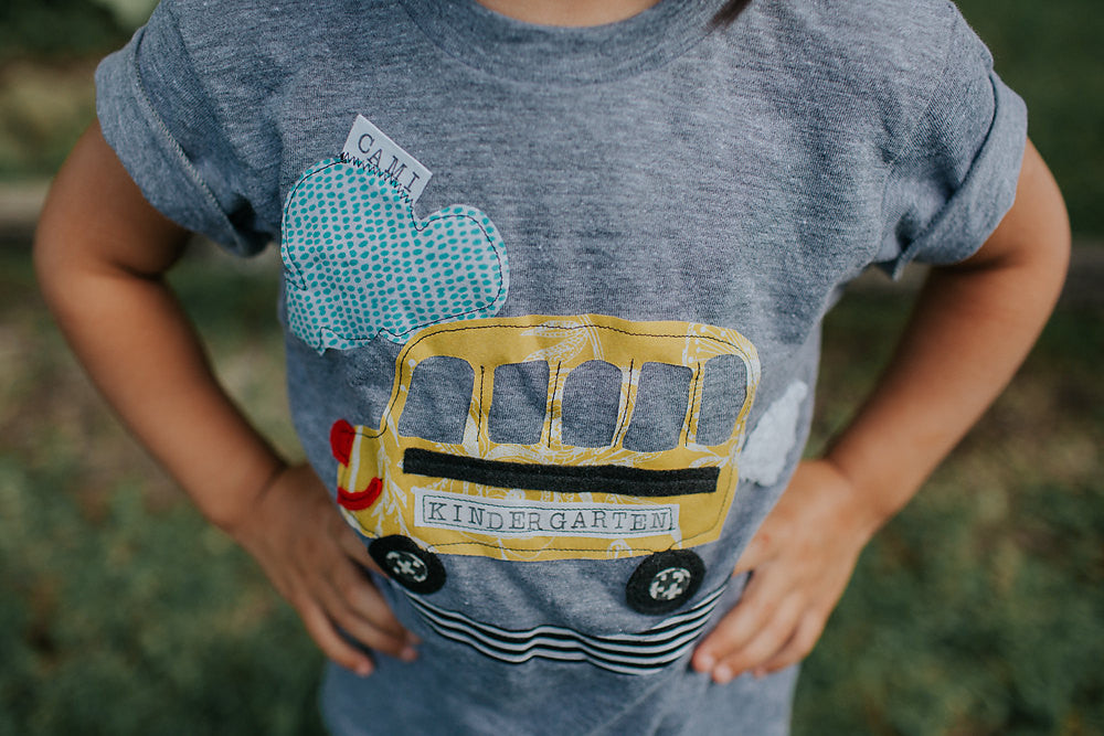 Swanky Shank Tee * School Bus with Grade
