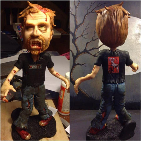 zombie custom OOAK polymer clay sculpture - Fiendish Thingies